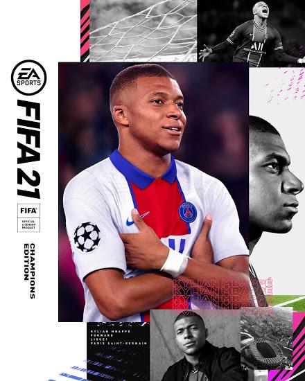 Capa do FIFA 21 - Kylian Mbappé