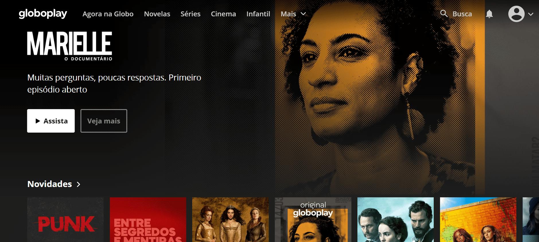 Serviços de streaming Globoplay Divulgação