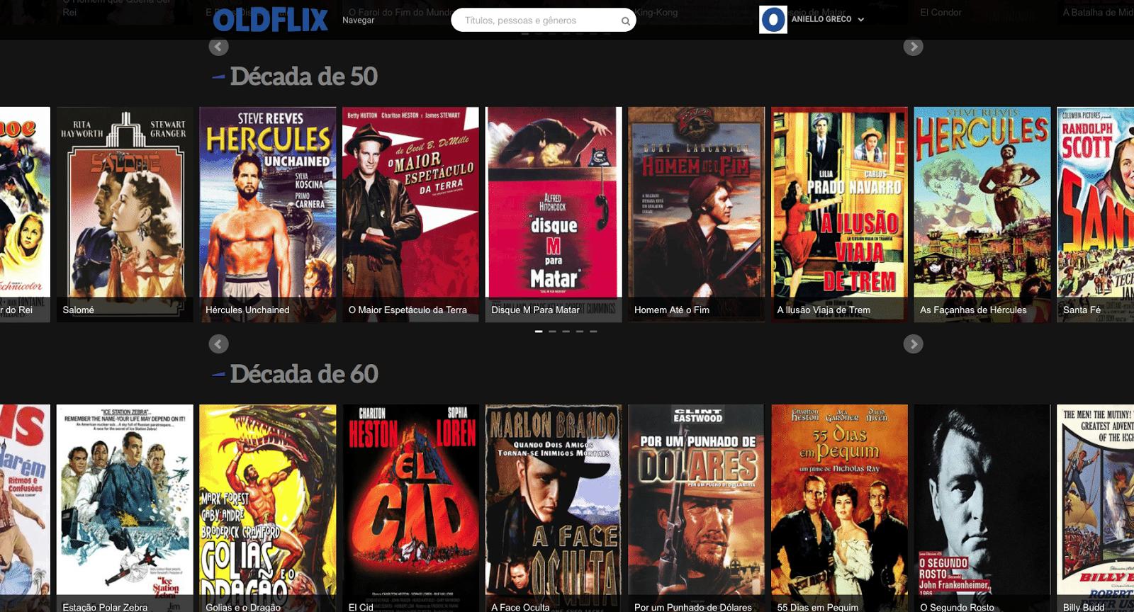 OldFlix Divulgação Serviços de streaming