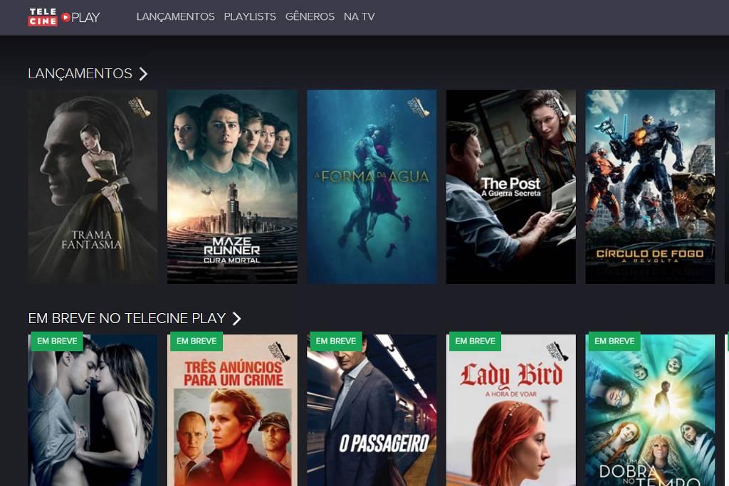 Tele Cine Play Divulgação Serviços de streaming