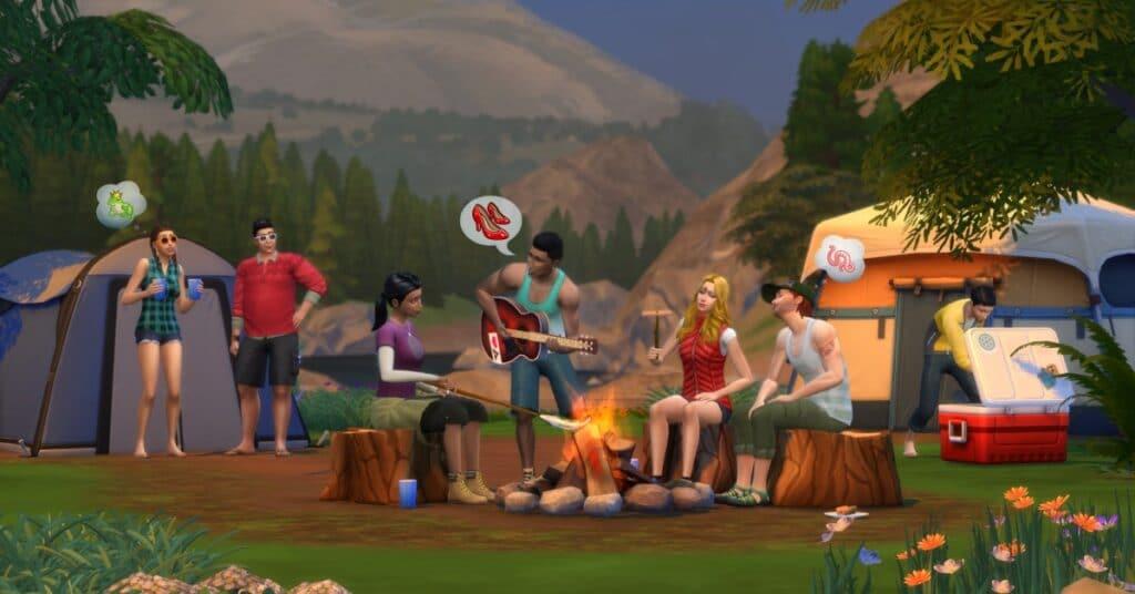 Retiro ao Ar Livre em The Sims 4
